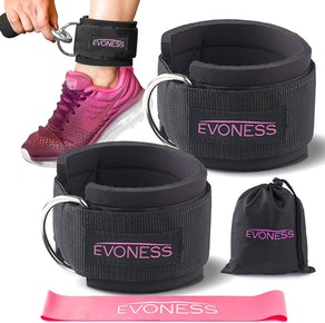EVONESS Ankle Straps & Resistance Band