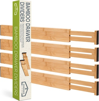 Homemaid Living Bamboo Drawer Dividers
