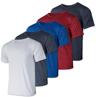 Real Essentials Dry-Fit T-Shirts (5-Pack)