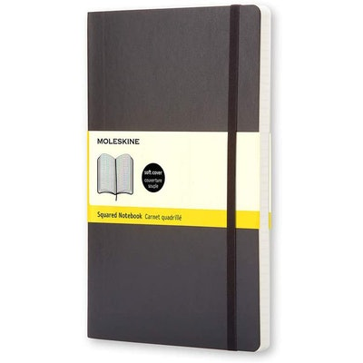 Moleskine Classic Squared/Grid Softcover Notebook