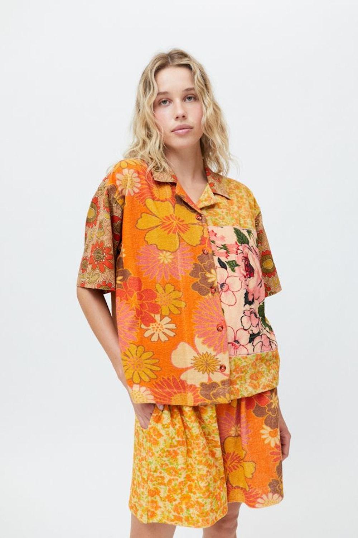 Kimchi Blue Terry Button-Down Souvenir Shirt