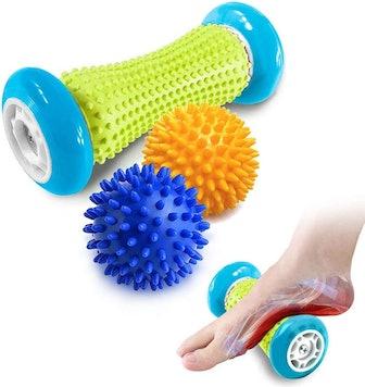 Pasnity Foot Massage Roller & Spiky Ball Set
