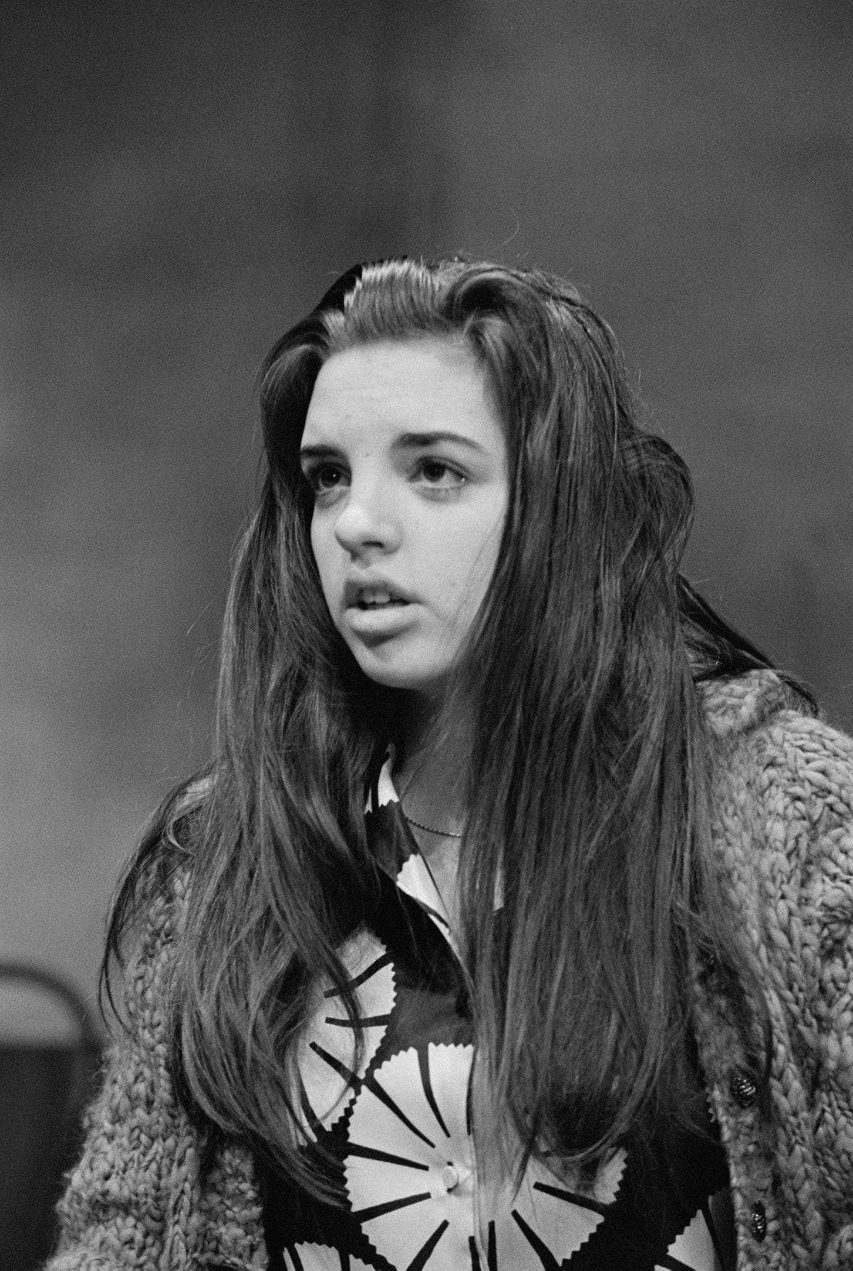 Liza Minnelli with long hair