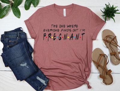 Friends Maternity Announcement Shirt