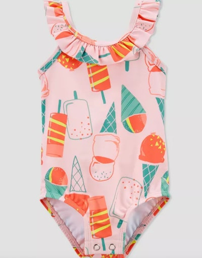 Carter's Baby Girls' Popsicle Ruffle One Piece Swimsuit