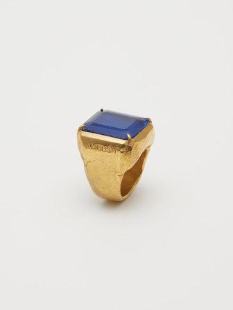 Square Cut Stone Ring
