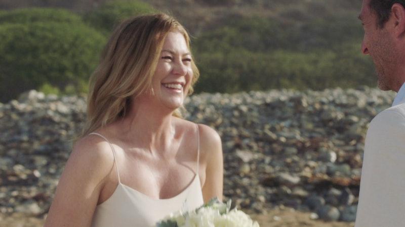 Meredith finally left the beach on 'Grey's Anatomy.' Photo via ABC