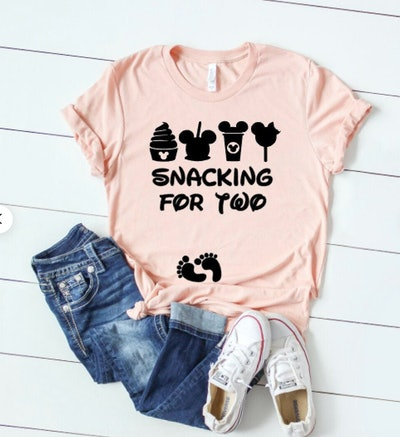 Snacking For Two Disney Pregnancy Announcement Shirt