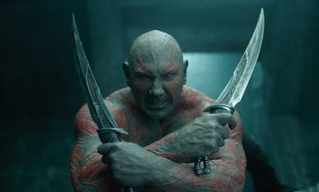 Dave Bautista as Drax the Destroyer in Guardians of the Galaxy
