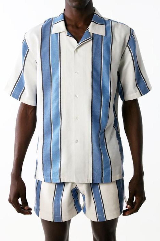 Camp Shirt in Mirrored Stripe
