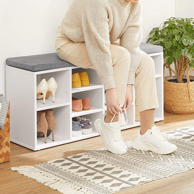 VASAGLE Shoe Cabinet Bench With Cushion