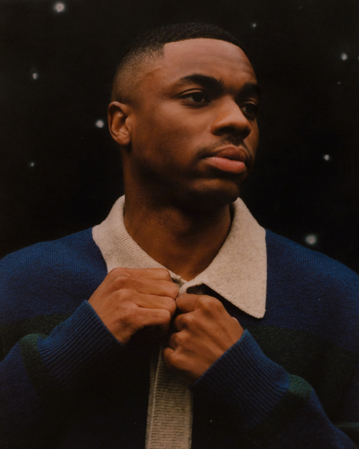 Vince Staples wears an Isabel Marant sweater.