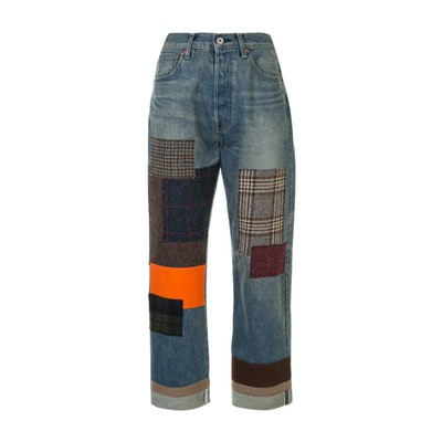 Junya Watanabe Cropped patchwork jeans