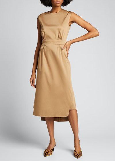 Sateen Sleeveless Suit Dress