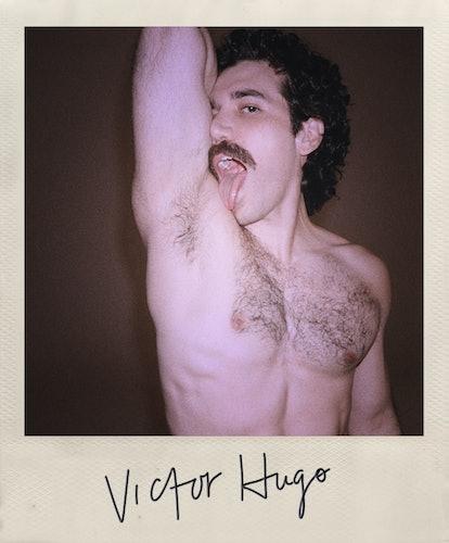 Gian Franco Rodriguez as Victor Hugo in 'Halston.'