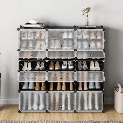 KOUSI 48-Pair Portable Shoe Rack Organizer