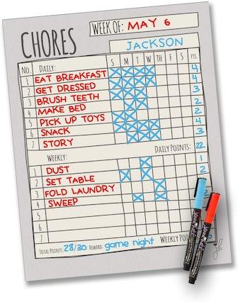 Jennakate Magnetic Chore Chart