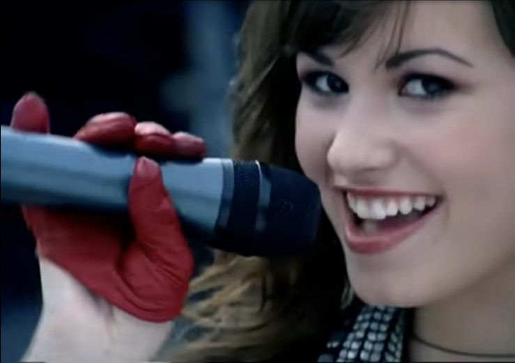 """A still from Demi Lovato's """"Get Back."""""""