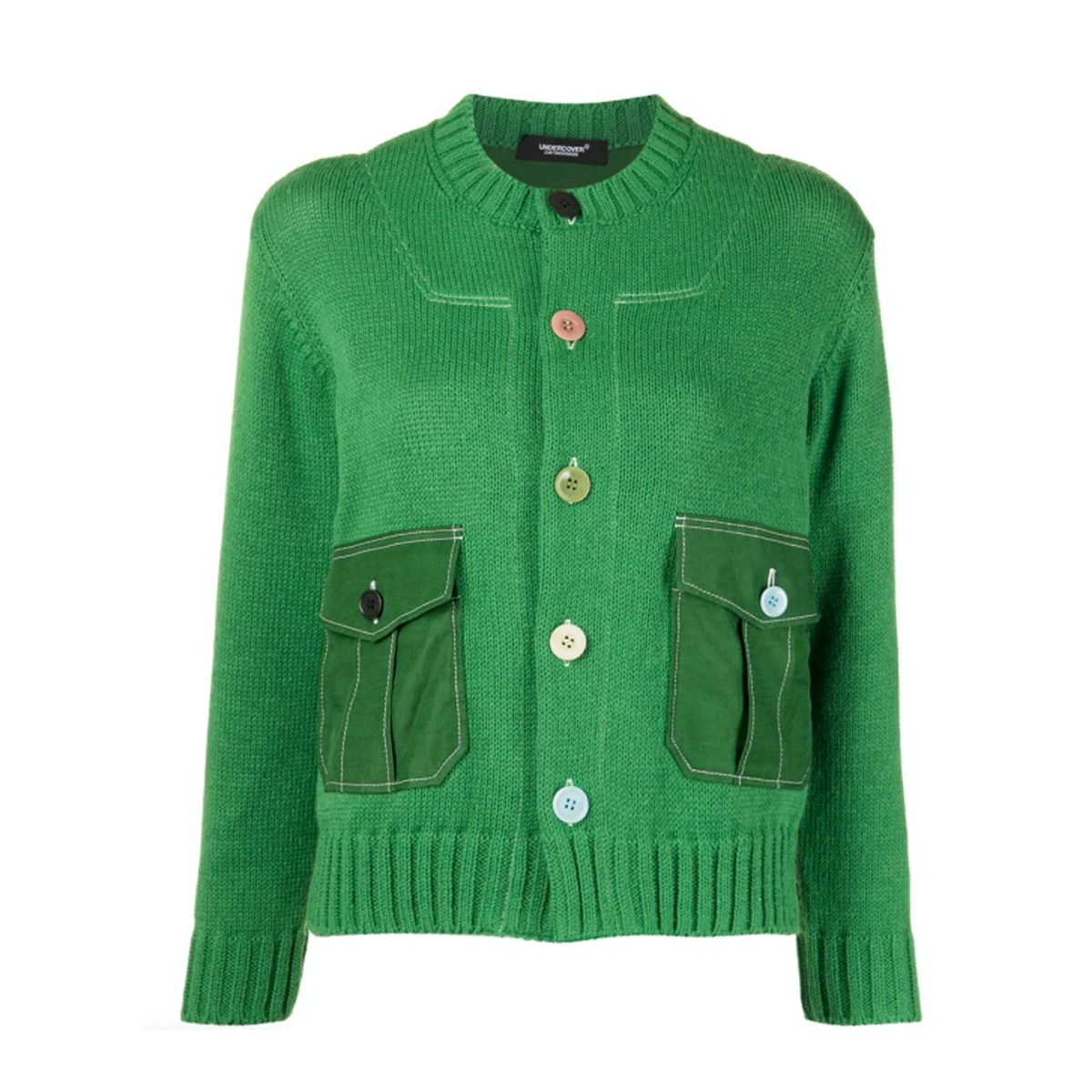 Undercover Patch pocket rib-trimmed cardigan