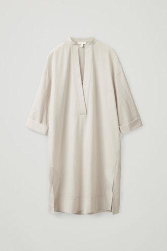 Sheer Organic Cotton Kaftan Dress