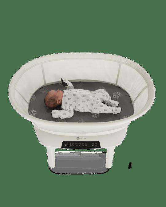 baby in mamaRoo bassinet