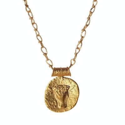 Misho Designs Taurus Zodiac Pendant Necklace
