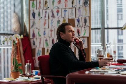 Ewan McGregor as Halston in Netflix's new limited series.