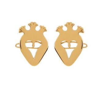 Heart hair clips pair