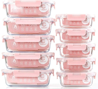 C Crest Glass Meal Prep Containers (Set of 10)