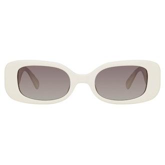 Lola Rectangular Sunglasses in White