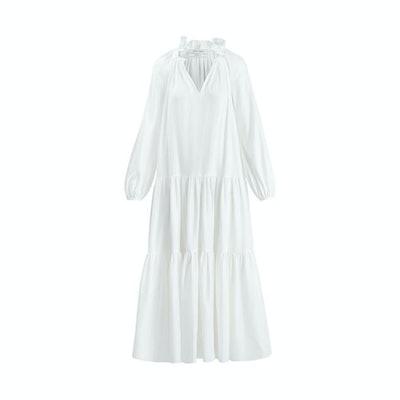 Prabal Gurung Poet sleeve ruffle maxi dress