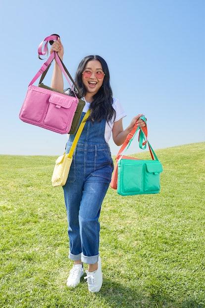 Lana Condor x Vera Bradley Recycled Cotton collection.