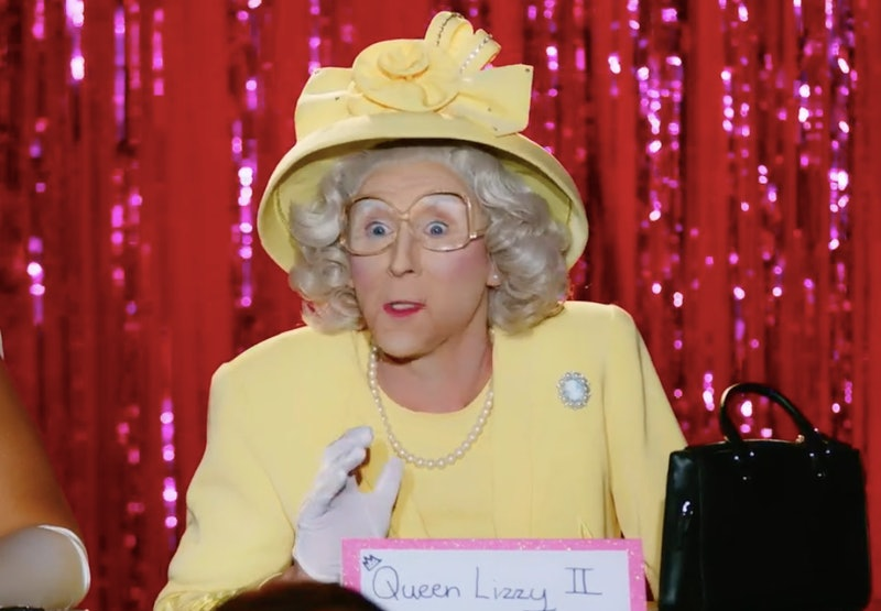 Anita Wigl'it as Queen Elizabeth during the Snatch Game on 'Drag Race Down Under'.