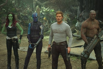 Team lineup in Guardians of the Galaxy Vol. 2