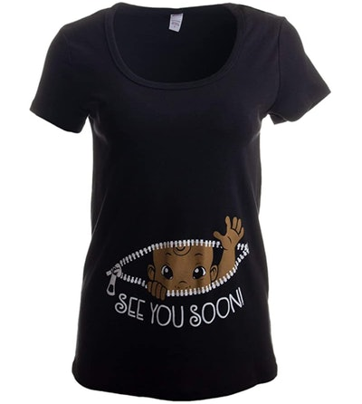See You Soon! | Cute Funny Maternity Pregnancy African American Baby Shirt