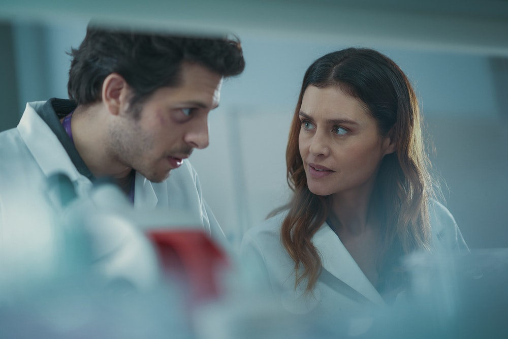 Dimitri Leonidas and Hannah Ware in The One.