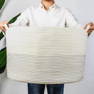 INDRESSME Cotton Rope Basket