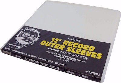 Square Deal Recordings & Supplies LP Record Outer Sleeves (100-Pack)