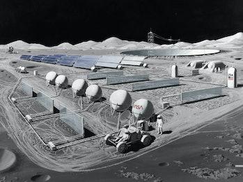 the nasa manned lunar observatory moon base