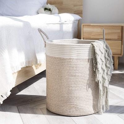 LA JOLIE MUSE Woven Basket Rope Storage Baskets