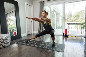 SKLZ Exercise Mat With Self-Guided Exercise Illustrations