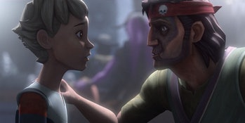Omega and Hunter in Star Wars: The Bad Batch