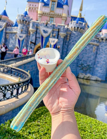 The Celebration Churro at Disneyland tastes like birthday cake.