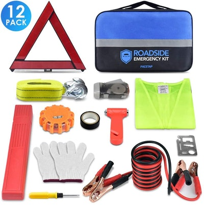 PACETAP Roadside Emergency Kit with LED Road Flare