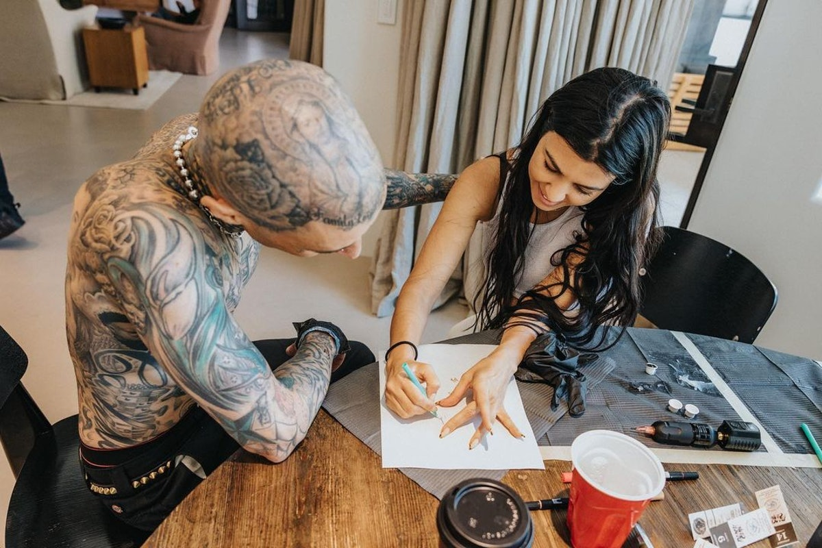 Travis Barker tattoo Kourtney Kardashian