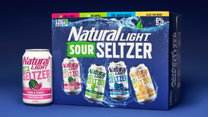Natty Light's new sour seltzers are available in four flavors: watermelon, blue raspberry, green apple, and lemon.
