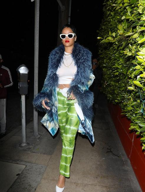 LOS ANGELES, CA - MAY 6: Rihanna is seen arriving at Giorgio Baldi restaurant on May 6, 2021 in Los Angeles, California.