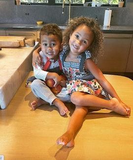 Chrissy Teigen's children are named Miles and Luna.