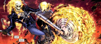Johnny Blaze as the Ghost Rider in Marvel Comics