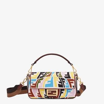 Multicolor Embroidered Baguette Canvas Bag